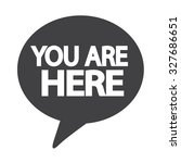 you are here icon | Shutterstock .eps vector #327686651