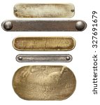 various metal plates and... | Shutterstock . vector #327691679