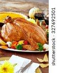 thanksgiving turkey dinner | Shutterstock . vector #327692501