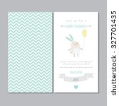 baby shower cute  invitation... | Shutterstock .eps vector #327701435