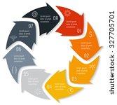 vector round infographic... | Shutterstock .eps vector #327705701