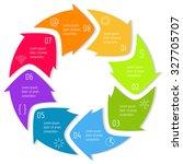 vector round infographic... | Shutterstock .eps vector #327705707