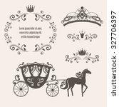 design elements  vintage... | Shutterstock .eps vector #327706397
