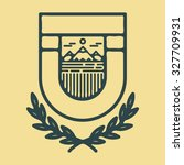 mountains vintage retro logo... | Shutterstock .eps vector #327709931
