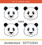 panda bear set of isolated... | Shutterstock .eps vector #327711014