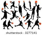 basketball player silhouettes... | Shutterstock .eps vector #3277141