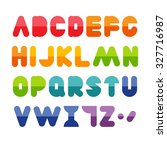 colorful alphabet set | Shutterstock .eps vector #327716987