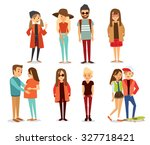 style people and couples vector ... | Shutterstock .eps vector #327718421