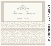 vintage invitation card with... | Shutterstock .eps vector #327718805
