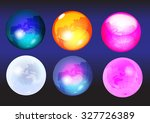 icon business abstract round.... | Shutterstock .eps vector #327726389