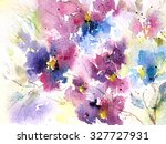 floral background. watercolor... | Shutterstock . vector #327727931