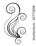 floral element of ornament for... | Shutterstock .eps vector #32772838
