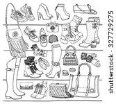 hand drawn vector illustration... | Shutterstock .eps vector #327729275
