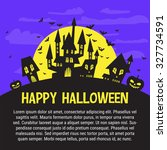 halloween party invitation... | Shutterstock .eps vector #327734591