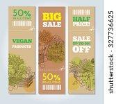vector cardboard banners set.... | Shutterstock .eps vector #327736625