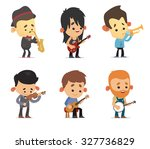 cartoon musicians | Shutterstock .eps vector #327736829