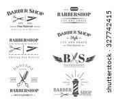 vector set of retro barber... | Shutterstock .eps vector #327742415