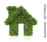 house from the grass. isolated... | Shutterstock . vector #327749621