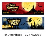 happy halloween. halloween... | Shutterstock .eps vector #327762089