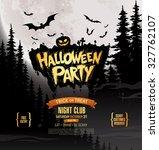 halloween party. vector... | Shutterstock .eps vector #327762107