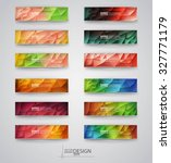 color banners set with... | Shutterstock .eps vector #327771179