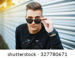 young handsome man in stylish... | Shutterstock . vector #327780671
