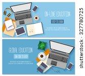 flat design banners for online... | Shutterstock .eps vector #327780725