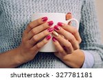 woman in the gray sweater... | Shutterstock . vector #327781181