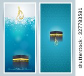 islamic greeting card... | Shutterstock .eps vector #327783581