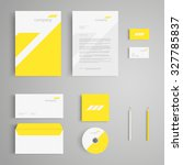 stationery template with logo.... | Shutterstock .eps vector #327785837