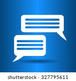 flat icon of a communication   Shutterstock .eps vector #327795611