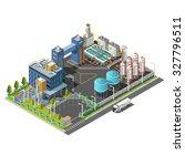 vector 3d isometric industrial... | Shutterstock .eps vector #327796511