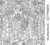 seamless pattern for coloring... | Shutterstock .eps vector #327796844