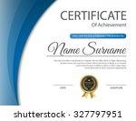 certificate template  vector | Shutterstock .eps vector #327797951