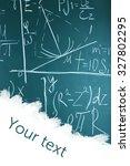 school blackboard with blank... | Shutterstock . vector #327802295