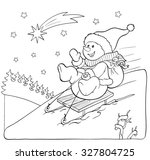coloring book or page. fanny... | Shutterstock .eps vector #327804725