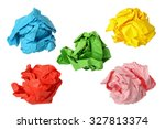 Five Colorful Crumpled Paper...