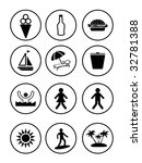 recreation icon set | Shutterstock .eps vector #32781388