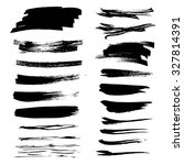 textured  black paint strokes... | Shutterstock .eps vector #327814391