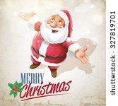 santa claus snow | Shutterstock .eps vector #327819701
