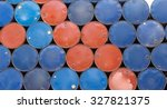 heap of used oil drum and... | Shutterstock . vector #327821375