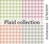 colorful plaid collection | Shutterstock .eps vector #327825059