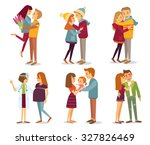 people and love  family ... | Shutterstock .eps vector #327826469