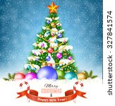new year and  merry christmas... | Shutterstock .eps vector #327841574