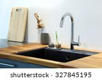modern sink with decoration in... | Shutterstock . vector #327845195