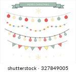 2016 christmas season hand... | Shutterstock .eps vector #327849005
