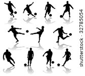 vector soccer players | Shutterstock .eps vector #32785054
