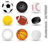 vector sport balls | Shutterstock .eps vector #32785069