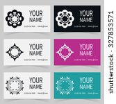 business cards set with... | Shutterstock .eps vector #327853571