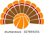 a thanksgiving turkey tail with ... | Shutterstock .eps vector #327855251